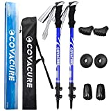Trekking Poles Collapsible Hiking Poles - 2 Pack Aluminum Alloy 7075 Walking Poles, Quick Adjustable Lock System & Ultralight Poles for Hiking, Camping