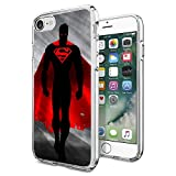 """Superman iPhone 7 Case, Onelee [Never fade] Superheros Series DC comics Superman Clear TPU Soft Rubber Case for regular iPhone 7 4.7"""" [Scratch proof] [Drop Protection]"""