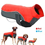 Didog Reflective Dog Winter Coat Sport Vest Jackets Snowsuit Apparel - 8 for Small Medium Large Dogs,Red,4XL Size