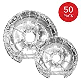 Electric Stove Burner Covers (50 Pack) - Electric Stove Bib Liners - Disposable Aluminum Foil 6 Inch and 8 Inch Round Burner Cover Liners to Keep Electric Range Stove Clean from Oil and Food Drips