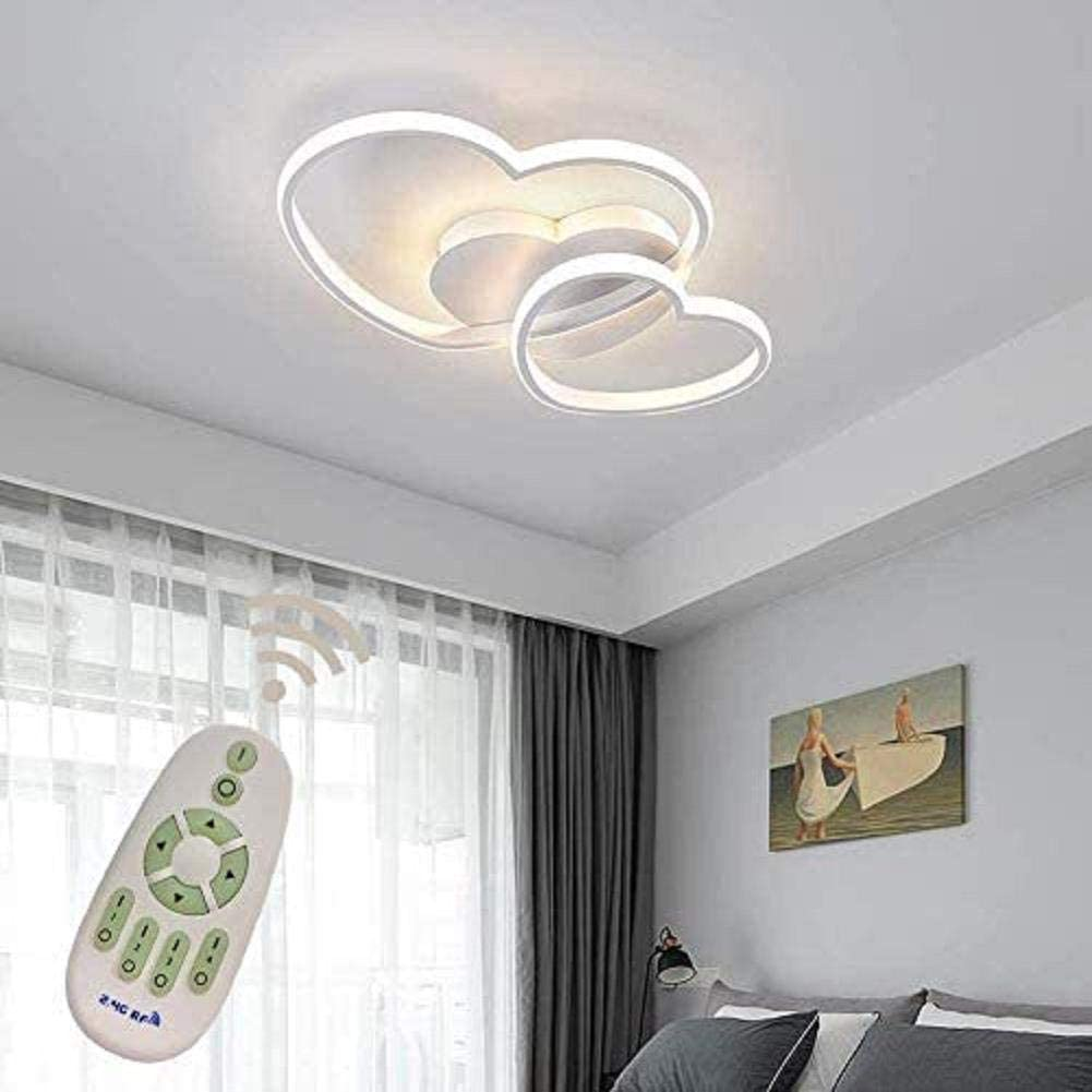 Xiaoyy Modern Light Fittings For Ceilings Bedroom Design Screen Acrylic Ceiling Bathroom Metal Dimmable White Lamp Modern Room Love Chandelier Amazon Co Uk Kitchen Home