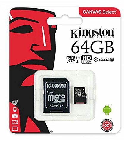 Kingston Micro SD HC 64 GB Clase 10 Canvas Select