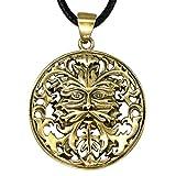 Bronze Greenman Pendant - Celtic Pagan God Jewelry By Oberon Zell
