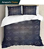 carmaxs-home 3 Pcs King Size Comforter Set,Box Stitched,Soft,Breathable,Hypoallergenic,Fade Resistant with 2 Pillowcase for Kids Bedding-Sacred Geometry Esoteric Mystical (104' W x 90' L)