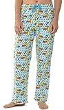 Leisureland Women's Pure Cotton Flannel Pajama Sleep Lounge Pants Sleepy Kitty Cat (Medium)