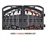 16PC T Handle Set Torx & Hex Key Ball End Allen Wrench Trx Star Tx Screwdriver With Ebook
