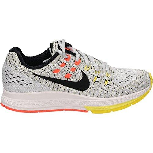 Nike Women's Wmns Air Zoom Structure 19, PURE PLATINUM/BLACK-OPT YELLOW-HYPER ORANGE, 6.5 US