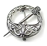 LynnAround 925 Sterling Silver Tara Filigree Celtic Knot Brooch - Cloak Shawl Scarf Pin Norse Irish Vintage Jewelry