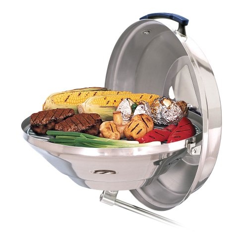 Magma Products Marine Kettle Charcoal Grill with Hinged Lid (Party Size)