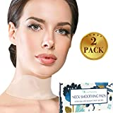 Silicone Neck Wrinkle Pad IMPROVED - Set of 2 Silicone Care Patches for Neck Wrinkles Treatment and Prevention - Reusable Anti Wrinkle Remover for Collette