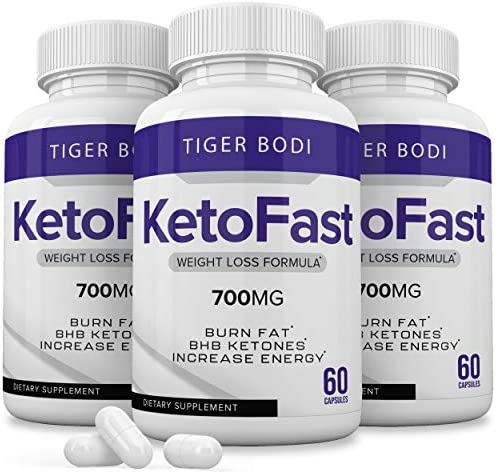 (3 Pack) Keto Fast Diet Pills, Keto Fast 700 mg Burn Weight Management Capsules - Pure Keto Fast Supplement for Energy, Focus - BHB Ultra Boost Exogenous Ketones for Rapid Ketosis for Men Women 3