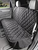 Dog Seat Cover Without Hammock for Cars, SUVs, and Small Trucks - Heavy Duty, Non Slip, Waterproof (Black)