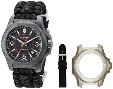 Victorinox Swiss Army I.N.O.X. Carbon Black Paracord Textile Watch, 43mm, Black