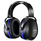Mpow [Upgraded] Noise Reduction Safety Ear Muffs, SNR 36dB Shooting Hunting Muffs, Hearing Protection with a Carrying Bag, Ear Defenders Fits Adults To Kids with Twist Resistant Headband- Dark Blue