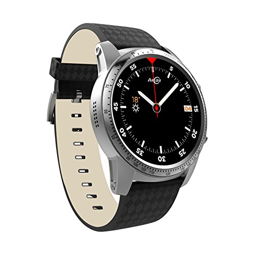 AllCall W1 Bluetooth Smartwatch Android iOS Fitness app, Google Assistant Support Slim GPS Built-in 2g RAM 16g ROM Quad core Fast Performance Business Smart Watch (Silver)