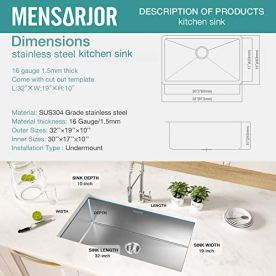 Kitchen-Sink-MENSARJOR-32-x-19-Undermount-Single-Bowl-16-Gauge-Stainless-Steel-Kitchen-Sink-with-accessories