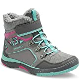 Merrell Moab Fst Polar Mid A/C Waterproof Hiking Boot (Little Kid/Big Kid), Grey/Multi, 5 Medium US Big Kid