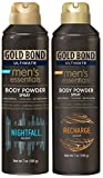 Gold Bond Powder Spray Combo, NightFall & Recharge Scent