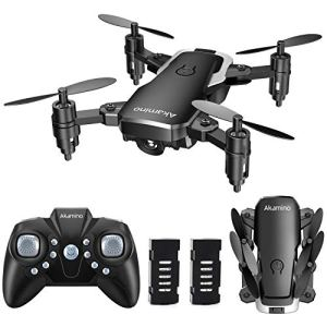 Akamino Mini Drone 2.4GHz Foldable Pocket RC Quadcopter with Headless Mode, 3D Flips , One Key Return Helicopter for Beginners, Kids 51ltE3I7KwL
