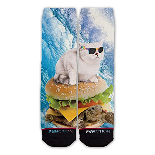 Function-Novelty-Funny-Cat-Fashion-Socks-Cute-Weird-Funky-Cat-Surfing-Turtle-Burger