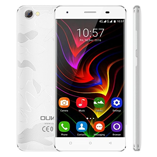 OUKITEL C5 Pro 2GB + 16GB 5.0 Inch Android 6.0 MTK6737 Quad Core up to 1.3GHz WCDMA & GSM & FDD-LTE (White)