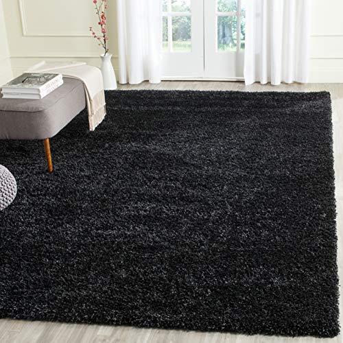 Safavieh California Premium Shag Collection SG151-9090 Black Area Rug (6'7' x 9'6')