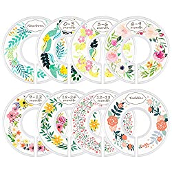 Why do you need a baby closet divider? Because it is the perfect way to get your wardrobe organized as easy as possible. The baby clothes can be categorized by color and type or you can simply tell by looking at the month label on the divider. The ac...
