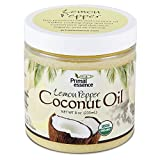 Primal Essence Organic Coconut Oil Naturally Infused with Whole-Plant Extracts (Lemon Pepper) 8 Oz