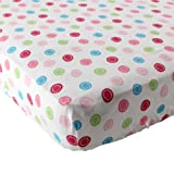 Luvable Friends Geometric Print Fitted Knit Crib Sheet, Pink