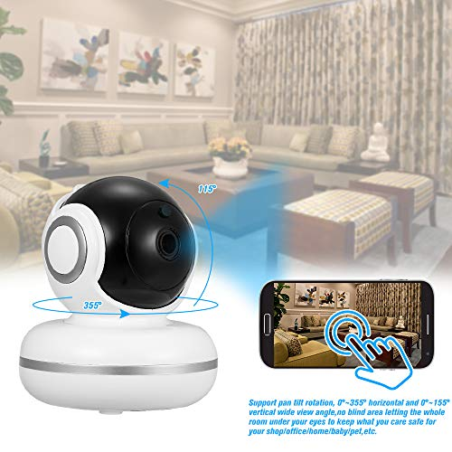 1080P HD PTZ Indoor IP Camera OWSOO with External TF Card Slot WiFi Home  Security Camera Support Night Vision Motion Detection Two-Way Audio Phone  APP
