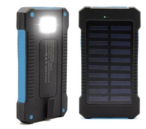 Solar Charger, Portable Solar Power Bank Charger 30000mAh External Backup Battery Pack Dual USB Solar Panel Charger with LED Flashlight for Emergency Outdoor Camping Travel