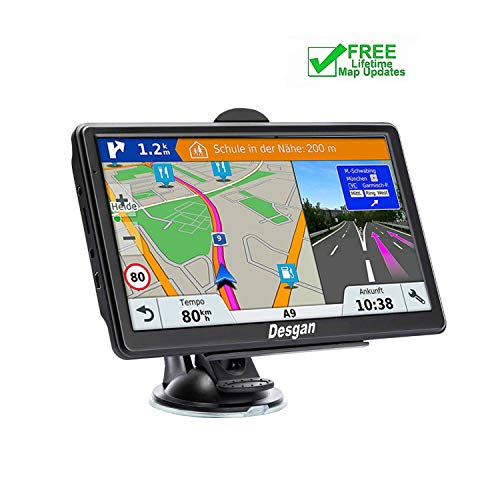 GPS Navigation for Car, 7-inch 8GB HD GPS Navigator , Voice Smart Reminder, Driving Alert,with Sun Visor&Free Lifetime Map