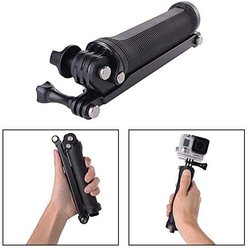 51m3Rc 8TQL YANTRALAY SCHOOL OF GADGETS 3-Way Monopod Grip Arm Tripod Foldable Selfie Stick, Stabilizer Mount Holder for GoPro Hero 7/6/5, SJCAM SJ6, SJ7, SJ5000, Yi and All Action Cameras (Black)