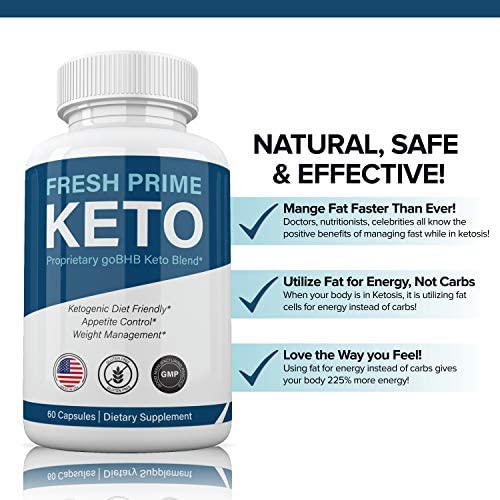 (2 Pack) Fresh Prime Keto Pills Shark Tank, Fresh Prime Keto Weight Loss Capsules BHB Supplement 800mg, Keto Fresh Prime Diet Pills BHB Ketones Slim Pills for Energy, Focus for Men Women 4