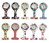 Product review of Women Square Silicone Quartz Nurse Watch Lapel Hanging Fob Watch