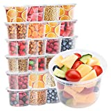 Glotoch Deli Soup Containers with Lids, 16 oz. Leakproof - Pack of 24 Plastic Microwaveable &Reusable&Dishwasher and Freezer Safe Clear Food Storage Container BPA Free, Premium Quality