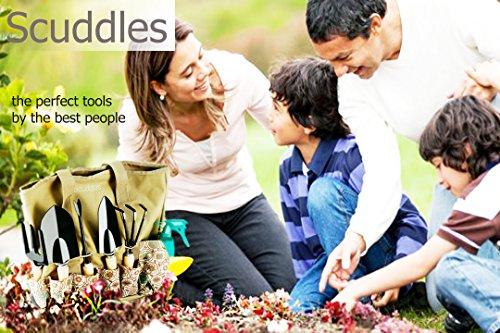 Scuddles-Heavy-Duty-Gardening-Tool-Set-Garden-Storage-Tote-Bag-Organizer-with-Wooden-Handle-Ergonomic-Hand-Digging-Stainless-Weeder-Rake-Shovel-Trowel-Spray-Glove-Kit-Gift-for-Man-Women-SC-GB-01