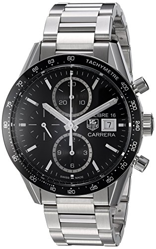 Stainless steel case with a stainless steel bracelet. Fixed - tachymeter bezel. Black dial with silver-toned hands and index hour markers. Minute markers around the outer rim Date display at the 3 o'clock position. Chronograph - sub-dials displaying: three - 60 second, 30 minute and 12 hour. Automatic movement. Caliber 16 engine. Scratch resistant sapphire crystal Swiss-automatic Movement