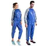 MINIRAH! Sweat Sauna Suit Men's Women's Fitness Weight Loss Detox Sport Exercise Gym Training Suit(One Set)
