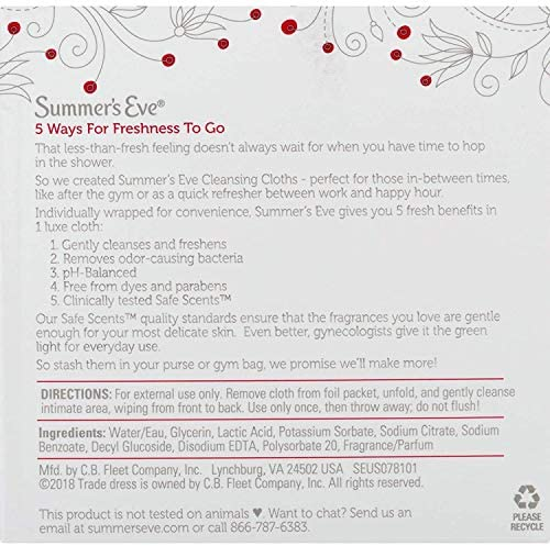 Summer's Eve Cleansing Cloths, Blissful Escape, 16 Count 4