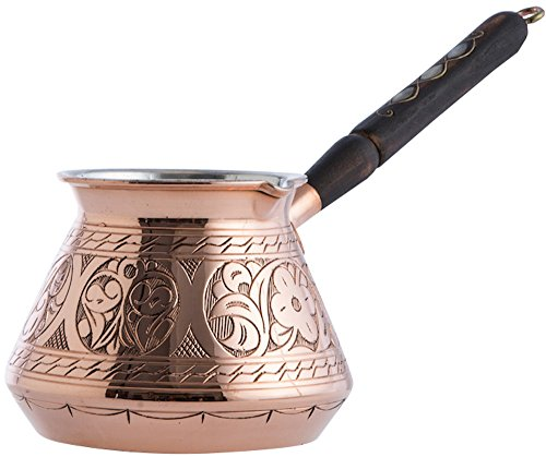CopperBull THICKEST Solid HaCopperBull THICKEST Solid Hammered Copper Turkish Greek Arabic Coffee Pot Stovetop Coffee Maker