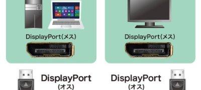 サンワサプライ DisplayPort ケーブル 1.0m ブラック KC-DP1K