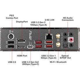 MSI-MPG-Z490-Gaming-Carbon-WiFi-Gaming-Motherboard-ATX-10th-Gen-Intel-Core-LGA-1200-Socket-DDR4-SLICF-Dual-M2-Slots-USB-32-Gen-2-Wi-Fi-6-DPHDMI-Mystic-Light-RGB