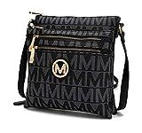 MKF Crossbody bag for women - Removable Adjustable Strap - Vegan leather Crossover Designer messenger Purse Black