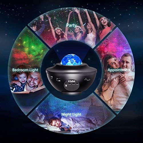 Star Projector,Galaxy Projector,Night Light Projector with LED Galaxy Ocean Projector Bluetooth Music Speaker for Baby Bedroom,Game Rooms,Party,Home Theatre,Night Light Ambiance. 17
