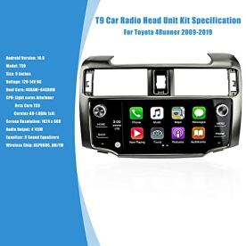 T9-Car-Radio-Head-Unit-Kit-for-Toyota-4Runner-2009-2019-Eight-Core-Android-100-GPS-Navigation-Stereo-Radio-Wireless-Carplay-Steering-Wheel-Control-9-inch-HD-Capacitive-Touch-Screen