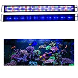 "KZKR Upgraded Aquarium Light LED Full Spectrum 48""-60"" Hood Lamp for Freshwater Marine Plant Multi-Color Decorations Light 120cm - 150cm"