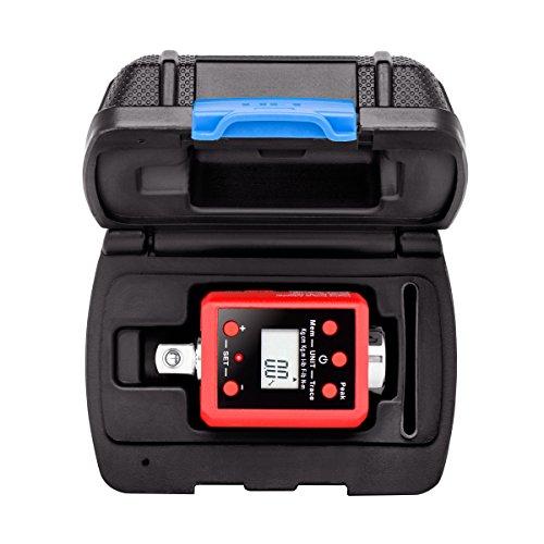 Neiko 20742A Digital Torque Adapter, 3/8' Drive | 14.7-99.6 Foot-Pound | Audible Alert