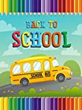Wamika Back to School Garden Flag 12 x 18 Double Sided, Colorful Pencil School Bus Fall Leaves House Yard Flags Outdoor Indoor Banner for Home Welcome Back Decorations