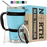 North Teal Stainless Steel Tumbler 5-Piece Set, 30 oz Vacuum Insulated, Travel Mug For Home, Office, School - Like Yeti Tumbler For Ice Drink & Hot Beverage